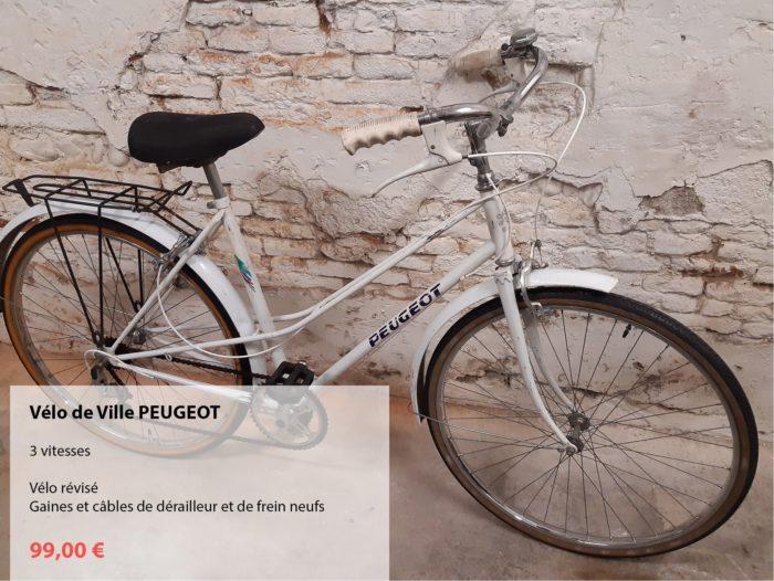 vélo d'occasion révisé PEUGEOT dame blanc
