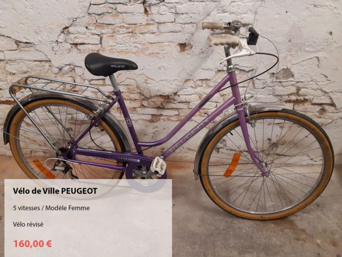 vélo d'occasion révisé PEUGEOT dame violet