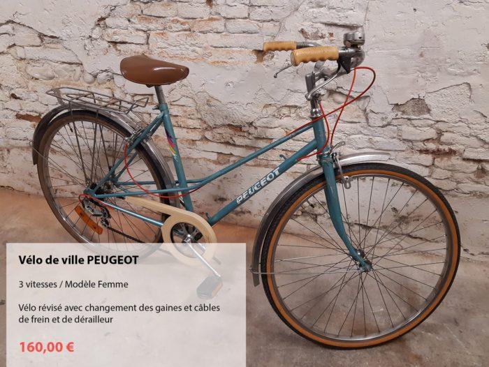 vélo d'occasion révisé PEUGEOT dame bleu turquoise