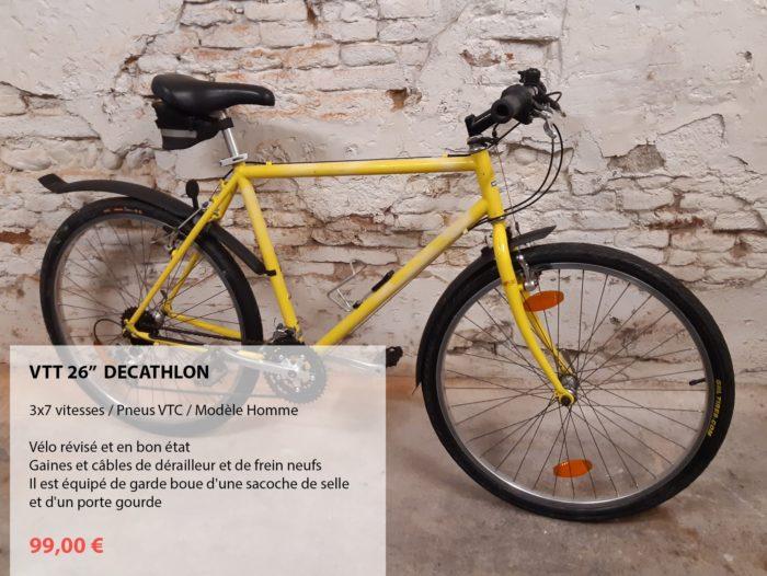 vélo d'occasion révisé VTT jaune