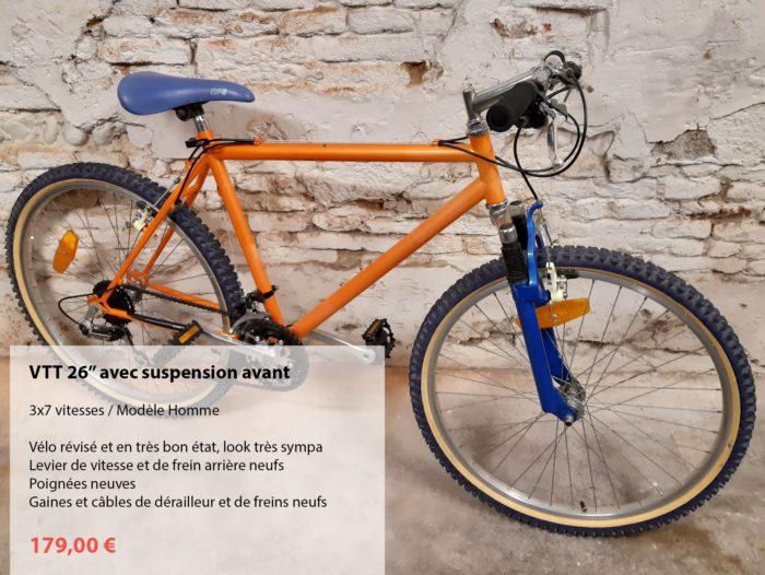 vélo d'occasion révisé VTT orange